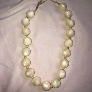 Vintage 20 inch goldtone metal chain off white